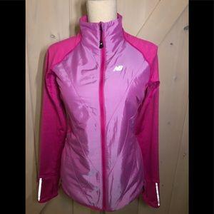 new balance pink running jacket!!